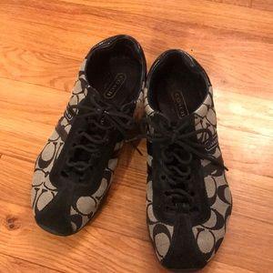 Coach Shoes - Coach Black & Silver Sneakers